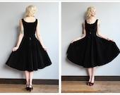 1950s Dress Set // Quilted Dirndl Top & Skirt // vintage 50s 2piece set