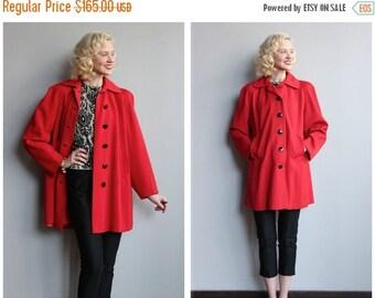 20% Sale 1950s Coat // Gloria May Swing Coat // vintage 50s coat