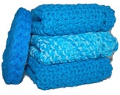 Set of Three Dishcloths with pot scrubber