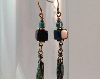 Dangling Dagger Earrings