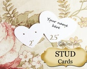 45/72 •2.5 x 2 Heart STUD•EARRING Cards•Jewelry Cards•Earring Display•Post Earring Card•stud card 10