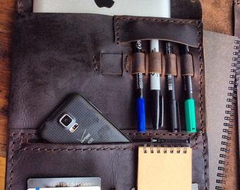 Portfolio binder, Office notebook organizer, Leather binder portfolio, Leather three ring binder, Folder organizer, Leather notebook binder