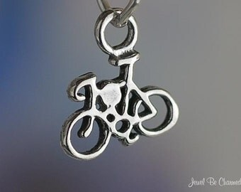Miniature Sterling Silver Bike Charm Bicycle Small Tiny Solid .925