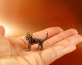 Tiny Grey Copper Wire Kitty