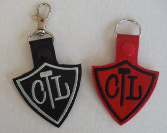 CTL Keychain - Choose the Left - Embroidered Vinyl Key Fob - Liberal Mormon - Key Ring