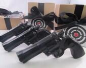 3 Police Gun Soap - valentines gift for man, valentines for guys, gift for men, black soap gun