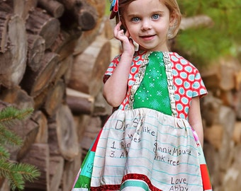 Girls Personalized Custom Apron dress  All I want for Christmas
