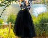 Black Tulle Tutu Skirt,  Women Tutu, Color of Your Chose