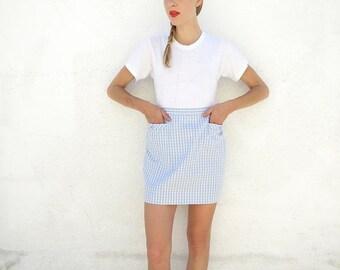 Skirt 50s Plaid Checker Cotton sz. M