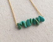 Turquoise bead necklace on 18k Gold Filled chain / choose your necklace size / FREE gift wrapping