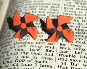 Halloween Pinwheel Earrings