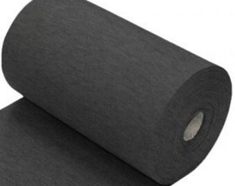 Dark Grey Cotton Ribbing, Cuff and waistband material