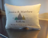 cotton anniversary gift 2nd anniversary personalized pillow custom throw pillow Wedding date pillow shower gift pillows home decor gift