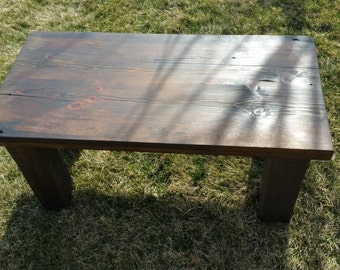 Barn wood coffee table made from 1892 reclaimed  barn wood
