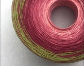 Color Change Gradient Yarn - strawberry - 'Moca Cotton' Yarn - 4 colors - 540 yards - fingering weight yarn - pure cotton