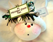 SPORTS TEAM FAN Ornaments Sample Michigan State Christmas Townsend Custom Gifts Hand Painted Themed Samples