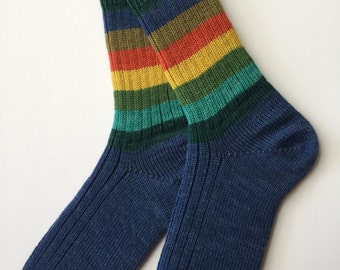 Knitted Ladies' Wool Socks, Regia Pairfect, Hand Cranked