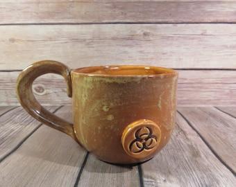 Brown and Caramel Biohazard mug