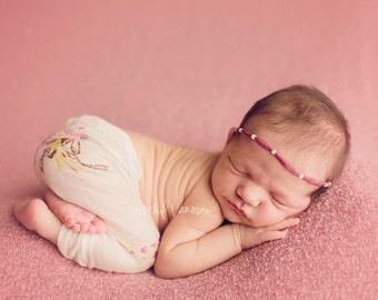 Leighton Heritage Newborn Apparel Baby Girl Soft Leggie Pant Photography Posing Photo Prop Infant Girly Spring Vintage Inspired Knit Legging
