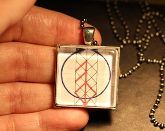 Norse Love Symbols Original Fine Art Necklace