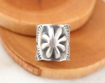Silver Western Flower Ring