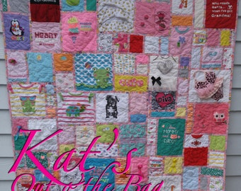 Memory Quilt | Baby Clothes Memory Quilt | Keepsake Quilt | First Year Clothes Quilt | Custom Made to Order