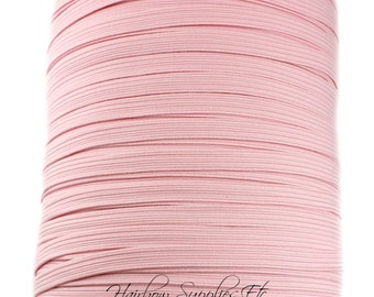 Light Pink Skinny Elastic 1/4 inch for Baby Headbands - Hairbow Supplies, Etc.