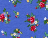 Pam Kitty Bouquet in Periwinkle - Holly Holderman for Lakehouse Dry Goods LH12061 - cotton quilting fabric - BTY