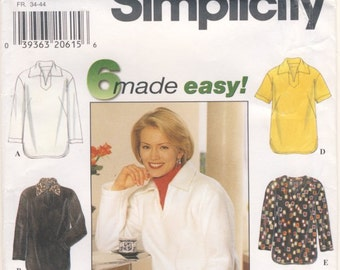 Simplicity 7764  6 Made Easy Misses Tunic Pullover Sizes XS (6-8) S (10-12) M (14-16)