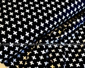 Jersey Fabric, Infinity Fabric, Apparel Fabric, Black and white fabric,Jersey Knit Fabric, Robert Kaufman Fabrics, Cotton/Lycra