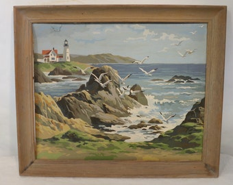 Vintage Paint by Numbers: By the Sea