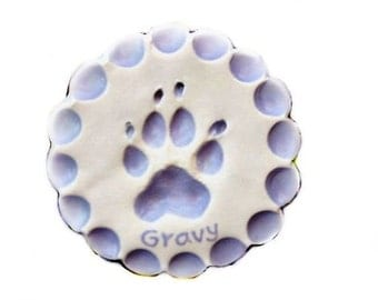 Large Dog Ornament -  Paw Ornament - Dog print Keepsake - Personalized Dog Ornament -  Pet Gift - Doggy Ornament Gift - Paw print Keepsake