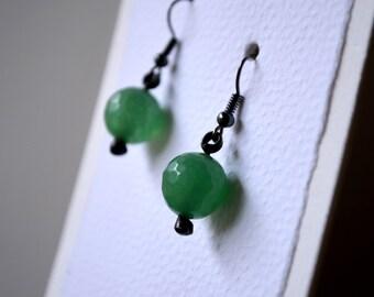 Aventurine Gemstone Earrings, Aventurine Drop Earrings, Green Earrings, Casual Jewelry, Gemstone Earrings, Green Aventurine Earrings (2703)
