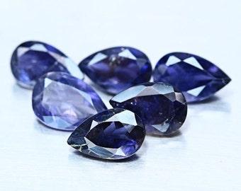 IOLITE (24005) PARCEL (6 Stones)  5 x 8mm Blue Iolite - Madagascar Mined - Faceted