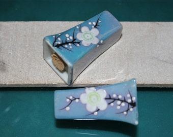 Lusterware Floral Small Salt & Pepper Shakers