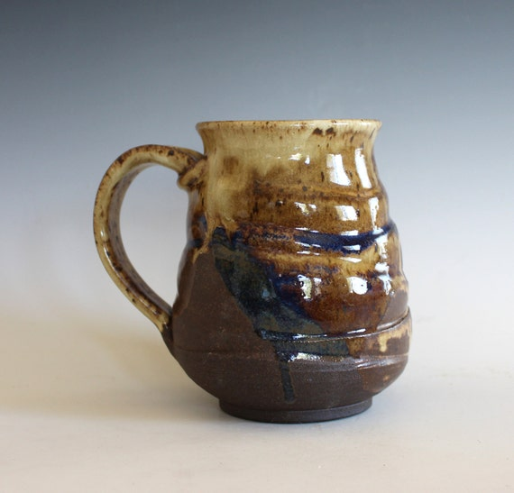 LARGE Coffee Mug, 21 oz, handmade ceramic cup, handthrown mug, ceramic stoneware pottery mug unique coffee mug ceramics and pottery