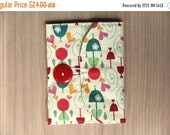 CLEARANCE SALE Memory Card Wallet, SD Holder - Umbrellas and Raindrops - Ready to Ship