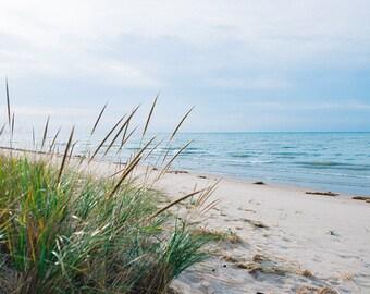 Beachwalk, Photos, Art, print, Coastal, Home Decor, Sand and Sea Print, Beach Dunes Art, Blue, Cream, Fine Art Print