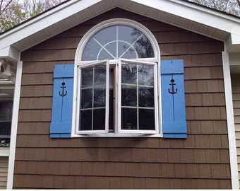 Shutter Exterior Interior ONE Cedar Wood Painted OR Unpainted Beach Cottage Lake Country House Shutter - 71 Inch by CastawaysHall