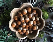 Felted wool acorns, Fox Brown, wholesale set of 50, woodland wedding decor, autumn wedding favors, brown wool acorns, autumn bowl filler