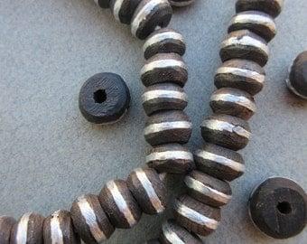 African Silver Ebony Beads