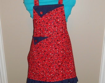 Red, White and Blue Stars Child's Apron