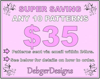 SUPER SAVING - Peyote beading patterns 10 for 35 Dollars