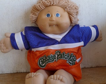 Cabbage Patch Kids Boy Doll Football, Soccer 1981