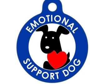 Pet ID Tag - Emotional Support Dog Medical ID Tag - Medical Alert Tag, Pet Tag, Child ID Tag, Dog Tag, Cat Tag