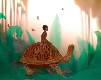 He took the tortoise as his guide... 11x14 inch print by Elly MacKay