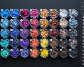 MANDARIN SPARKLE MICA - cosmetic grade mica powders, 45 colours, sparkling, shimmery