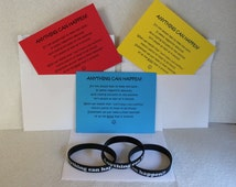 Anything Can Happen - Inspirational Wristbands and Poem Cards (set of 3)