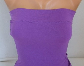Lavender Tube Top, Crop Top, Yoga Strapless Top, Bandeau Top, Summer Strapless Top, Tube Tops, Sexy Top,Easter Gift