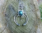 Naja necklace with natural McGinnis turquoise